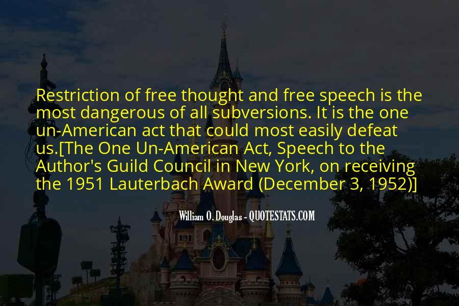 Democracy Freedom Of Speech Quotes #1080426