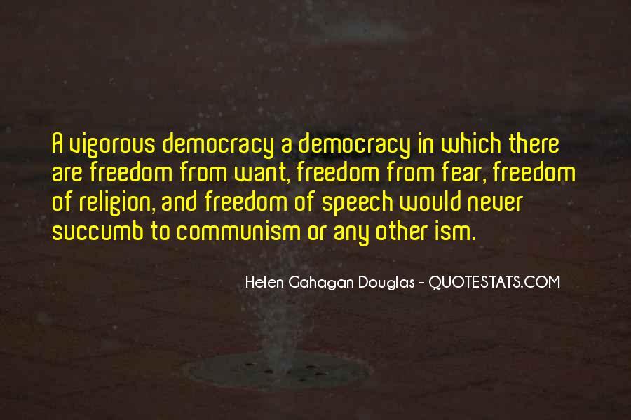 Democracy Freedom Of Speech Quotes #109160