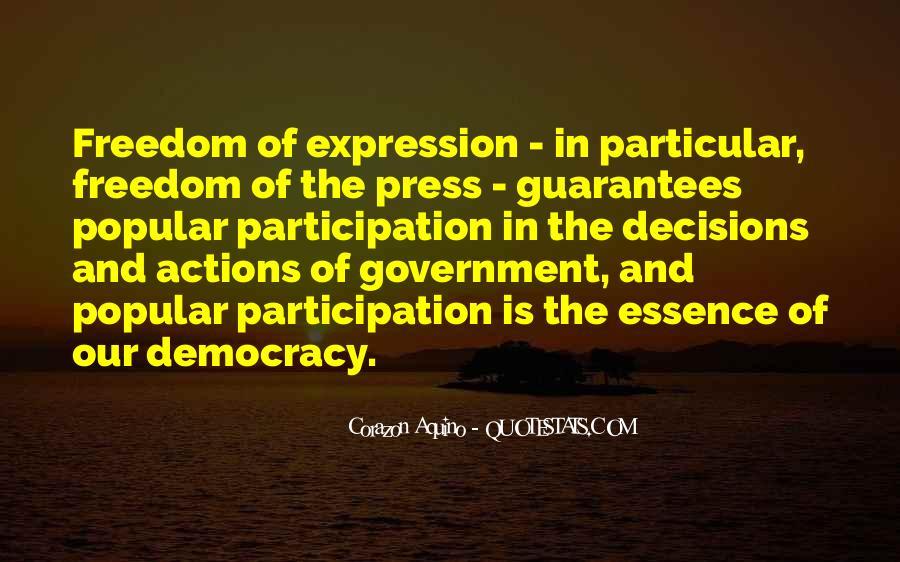 Democracy Participation Quotes #1429449