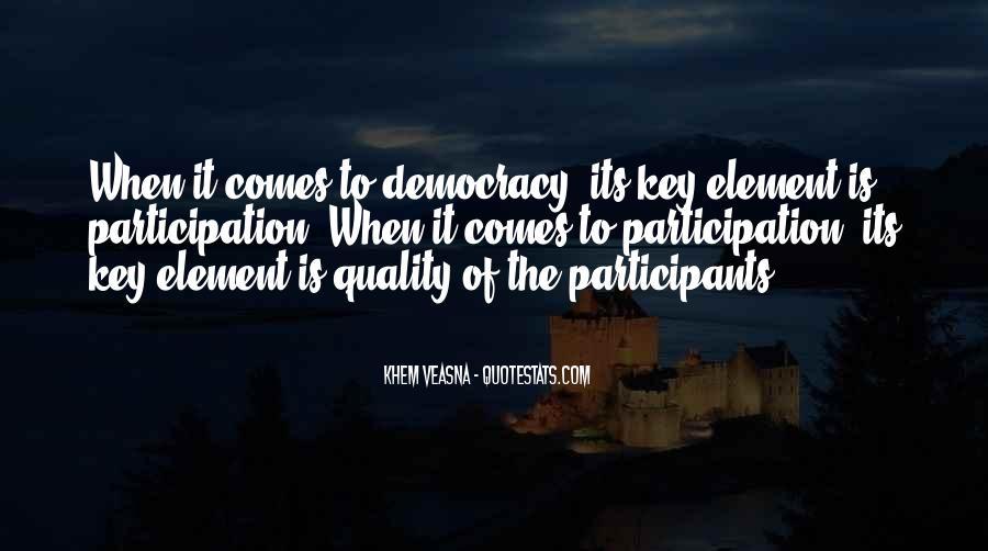 Democracy Participation Quotes #811738