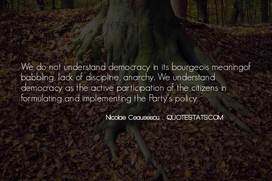 Democracy Participation Quotes #86178