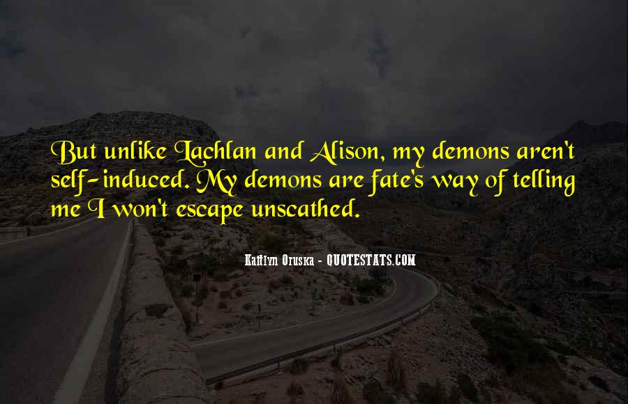 Demons Within Us Quotes #37329