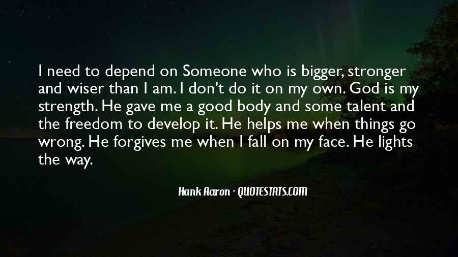 Depend On God Quotes #1008526