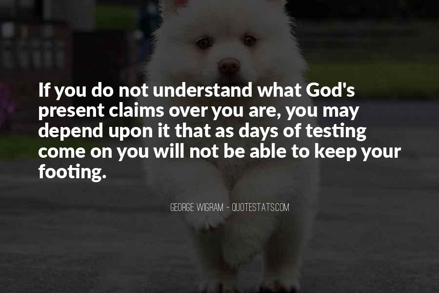 Depend On God Quotes #1069136