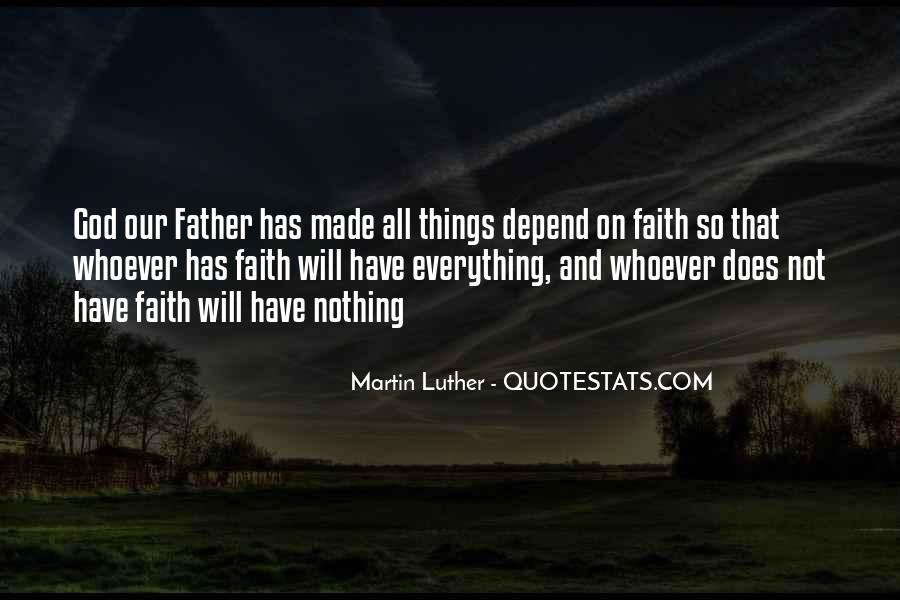 Depend On God Quotes #1070770