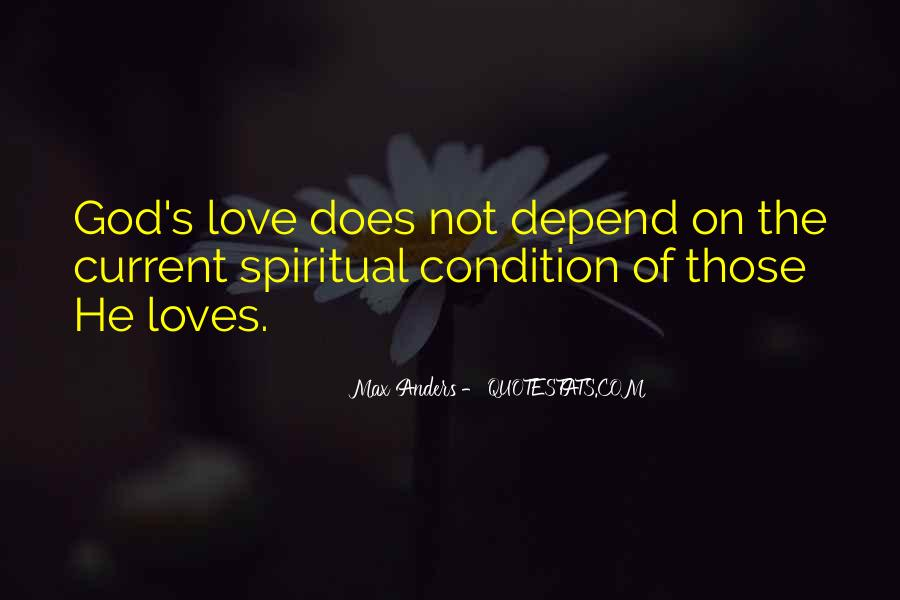 Depend On God Quotes #125281