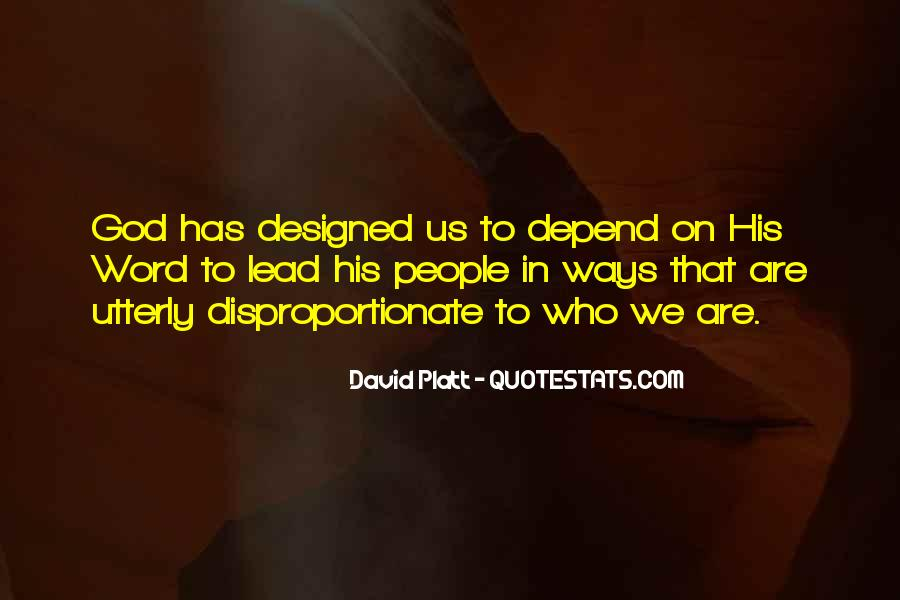 Depend On God Quotes #1366667