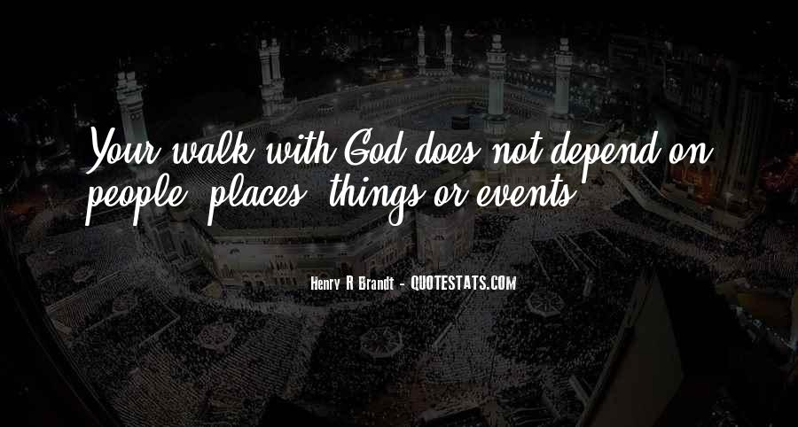 Depend On God Quotes #1408092
