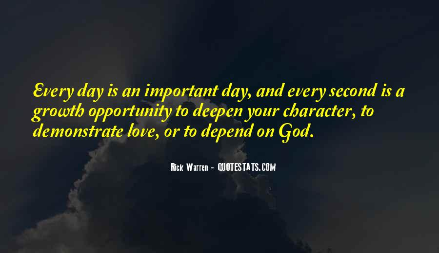 Depend On God Quotes #1411533