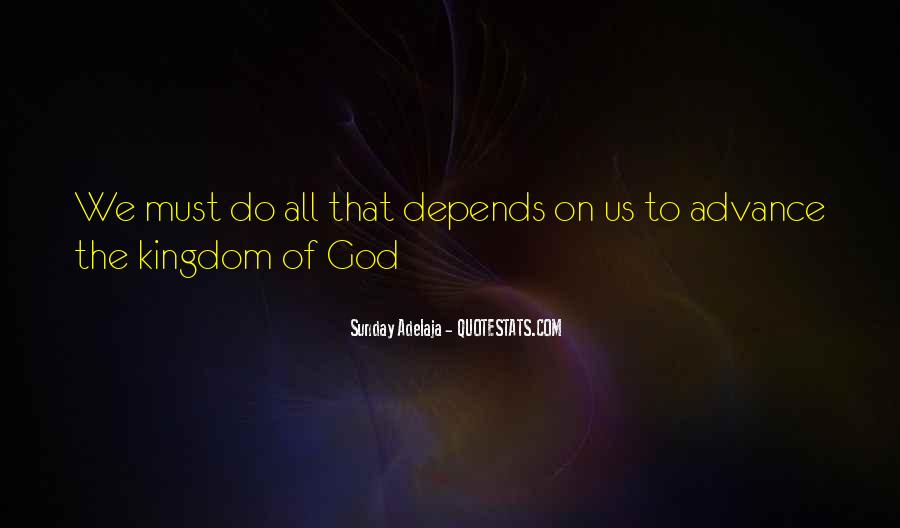 Depend On God Quotes #1482103