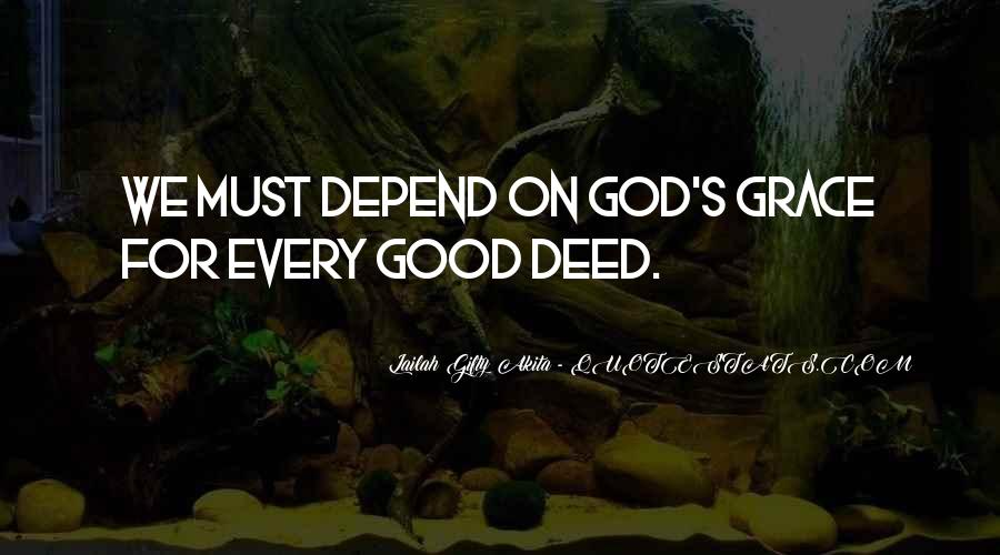 Depend On God Quotes #1630150