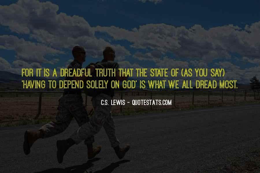 Depend On God Quotes #1684353