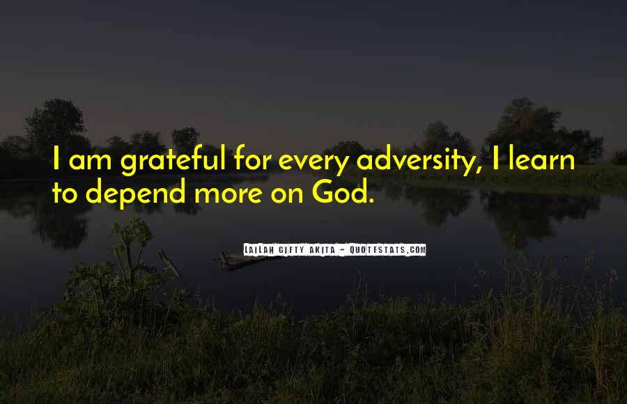Depend On God Quotes #1715989