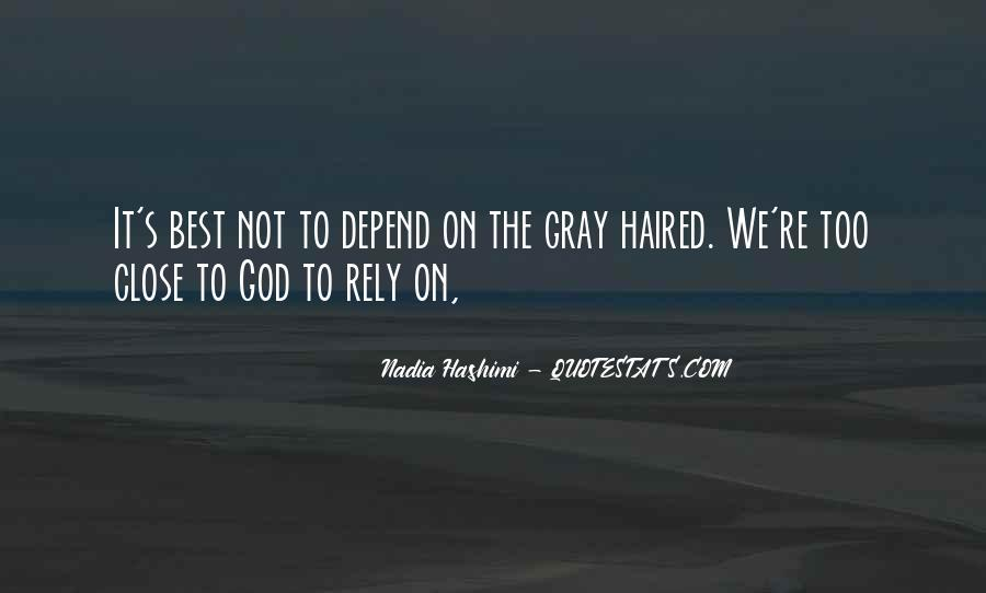 Depend On God Quotes #1784814