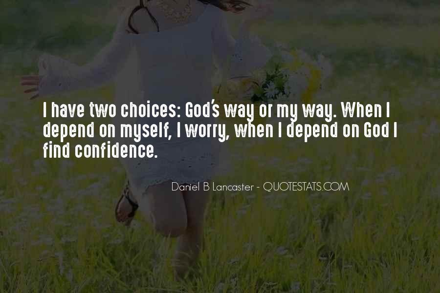 Depend On God Quotes #650686