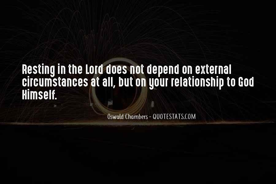 Depend On God Quotes #899864