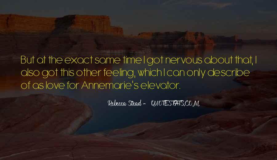 Describe Love Feeling Quotes #1289594