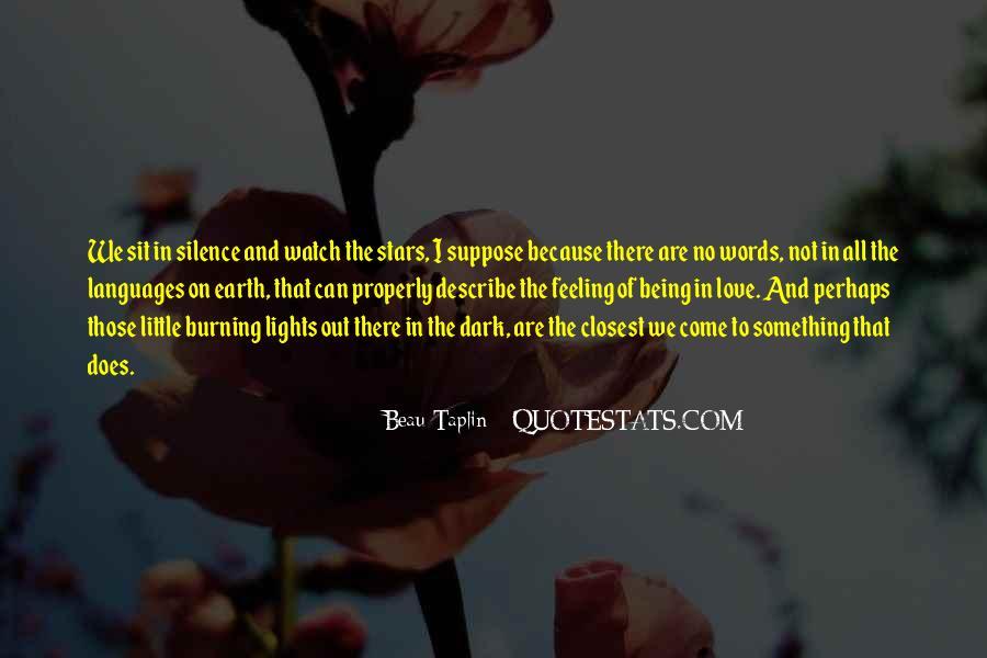 Describe Love Feeling Quotes #1345728