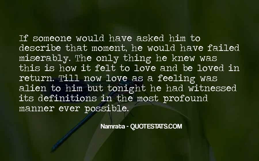 Describe Love Feeling Quotes #40251