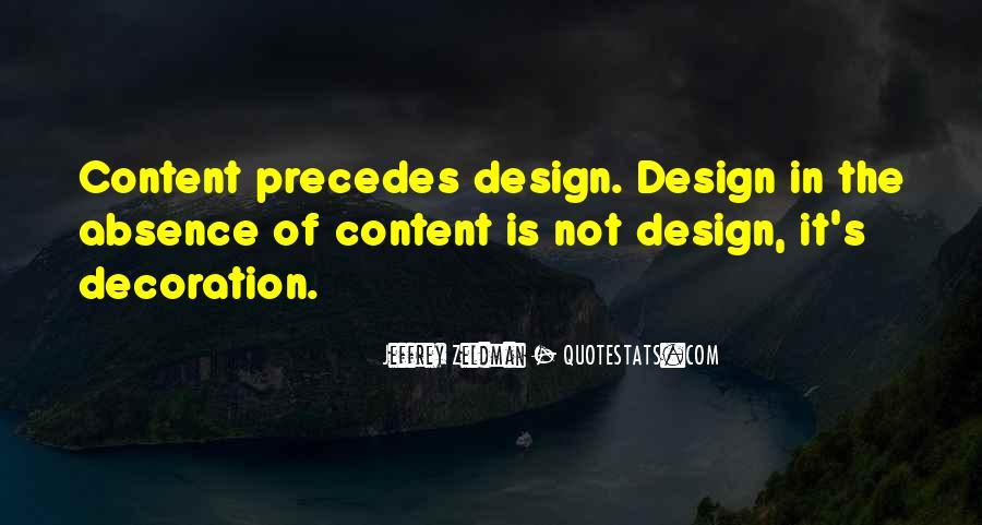 Design And Content Quotes #853698