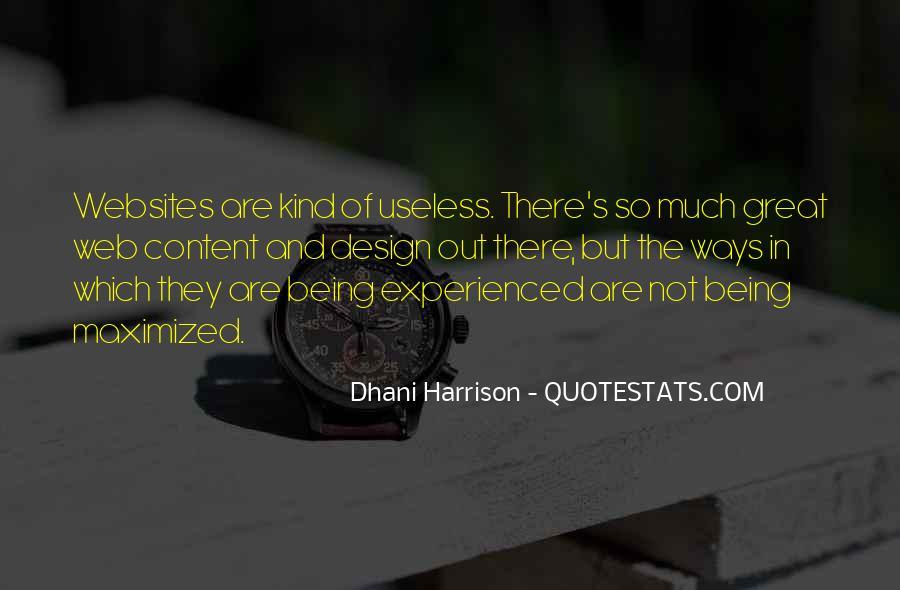 Design And Content Quotes #964698
