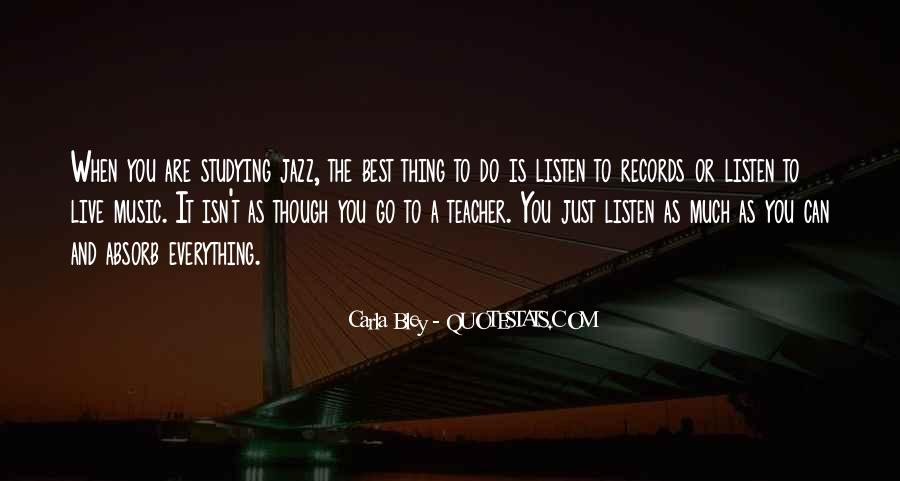 Quotes About Jazz Music #228545