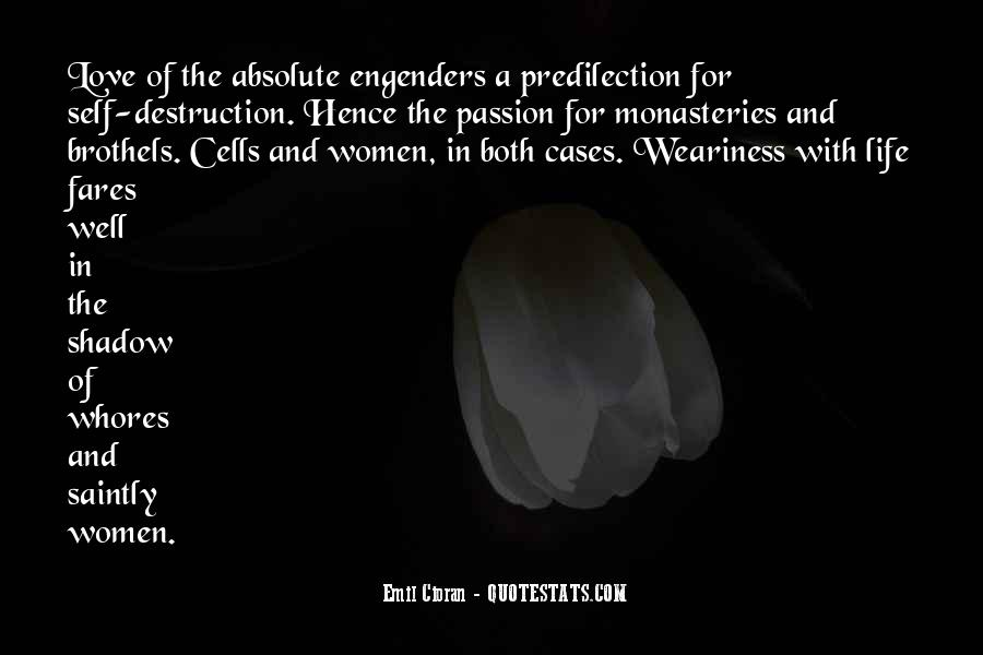 Destruction Love Quotes #1061917