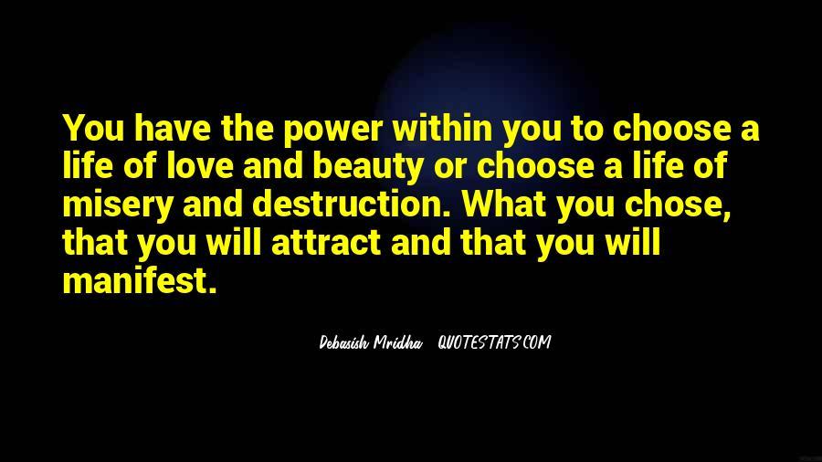 Destruction Love Quotes #1217630