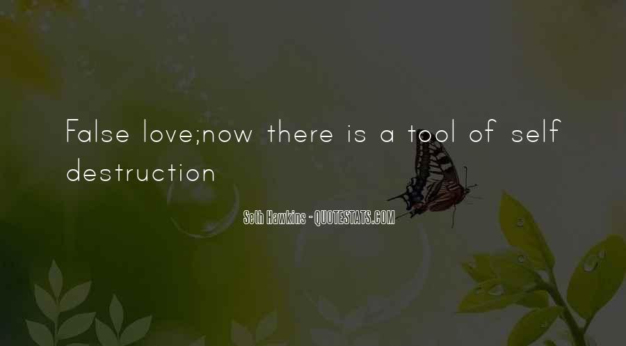 Destruction Love Quotes #1253587