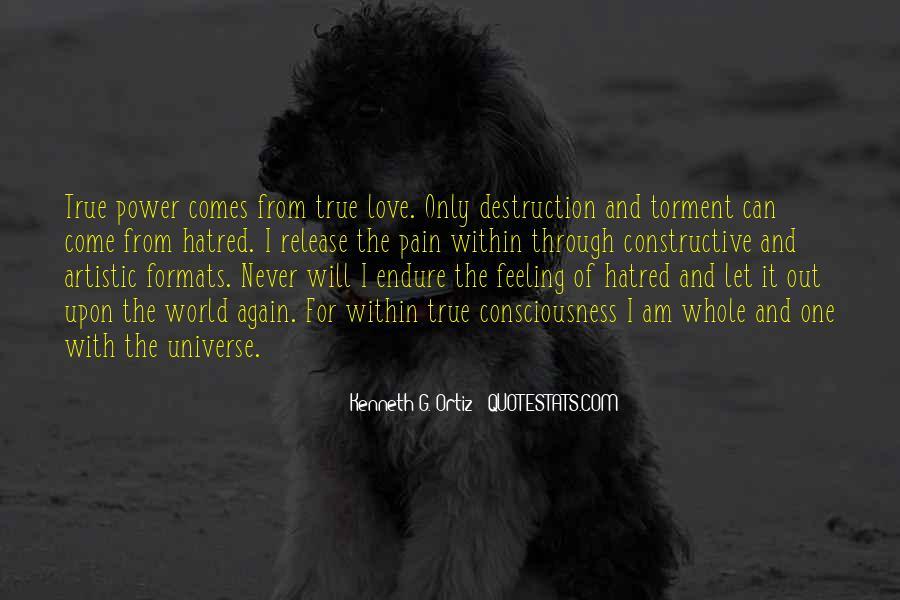 Destruction Love Quotes #1677676