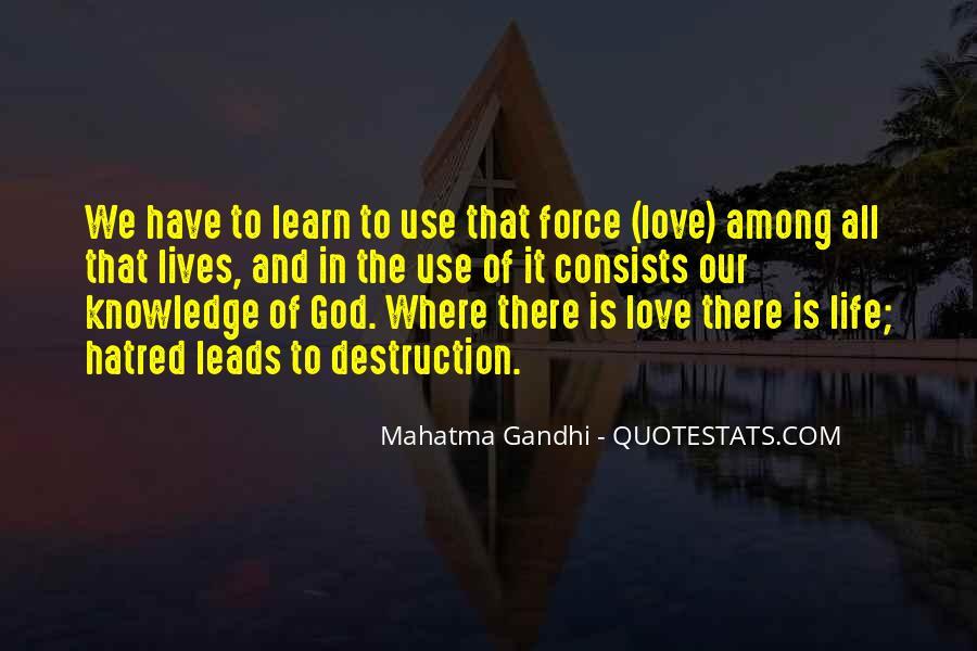 Destruction Love Quotes #177122