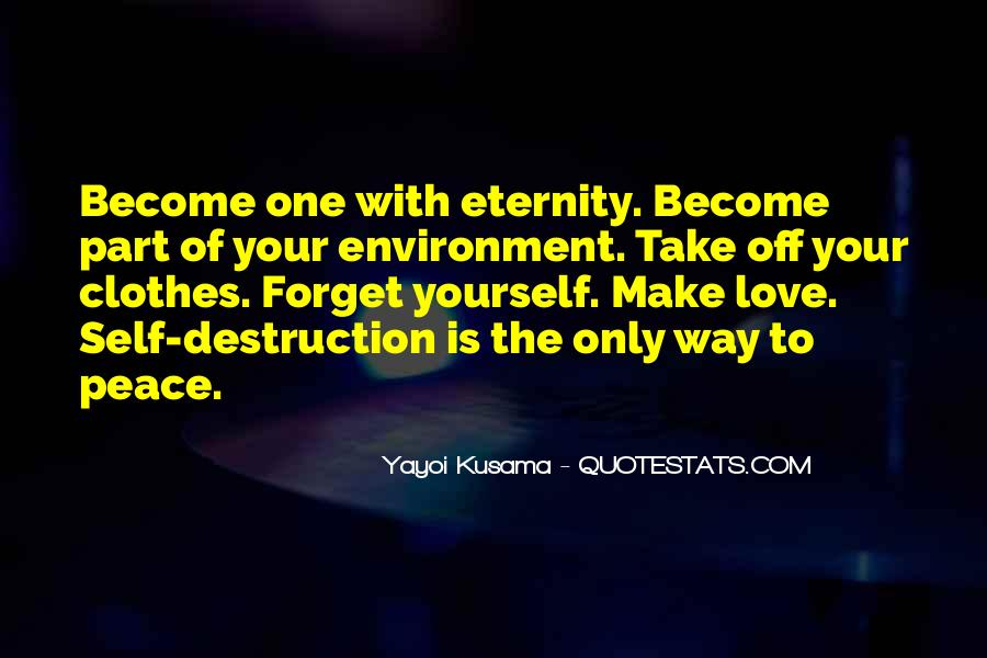 Destruction Love Quotes #96156