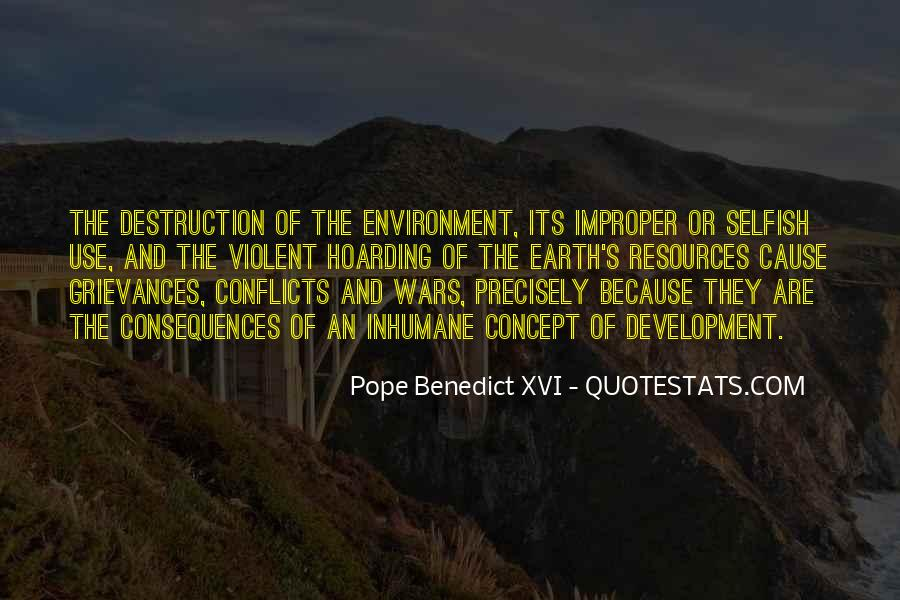 Destruction Of The Environment Quotes #816259