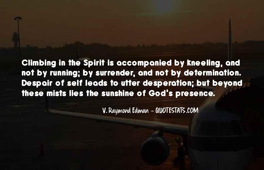 Determination And Desperation Quotes #497597