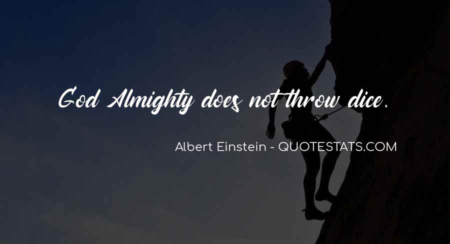 Dice Einstein Quotes #1006803