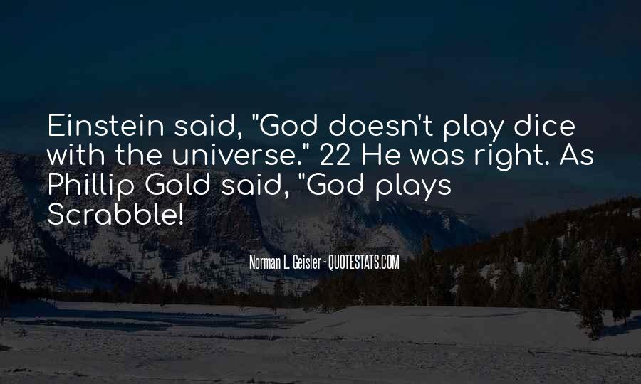 Dice Einstein Quotes #1150857