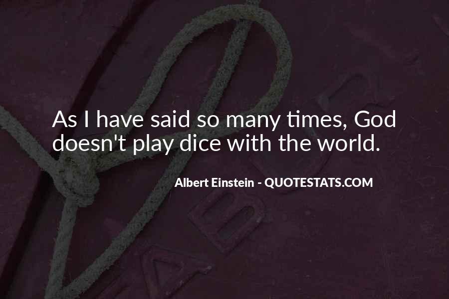 Dice Einstein Quotes #1241769