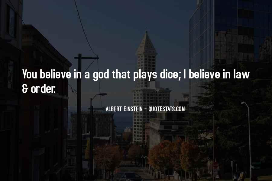 Dice Einstein Quotes #622989