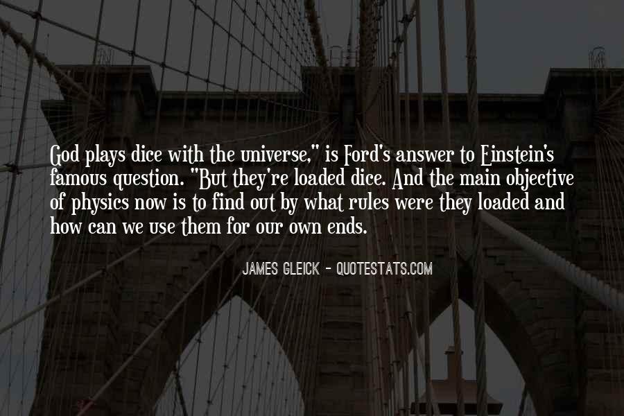 Dice Einstein Quotes #836397