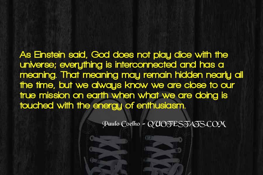 Dice Einstein Quotes #89900