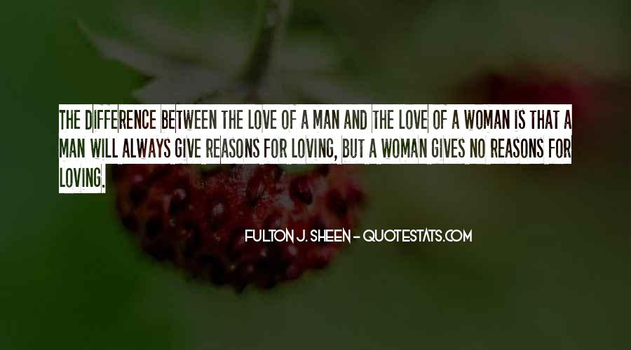 Difference Between Man And Woman In Love Quotes #210377