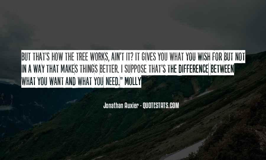 Difference Between Need And Want Quotes #1351014