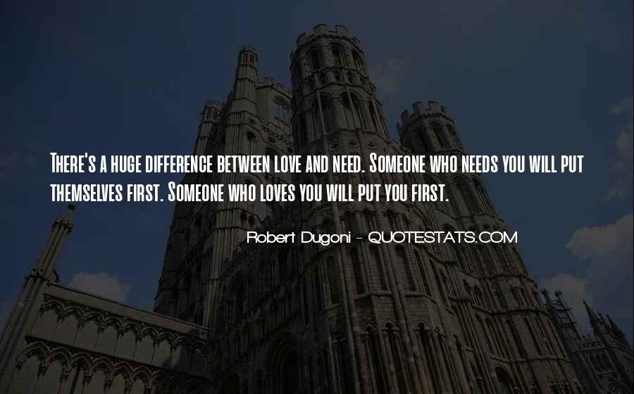 Difference Between Need And Want Quotes #723634
