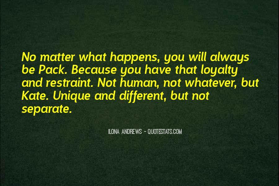 Different But Unique Quotes #1311075