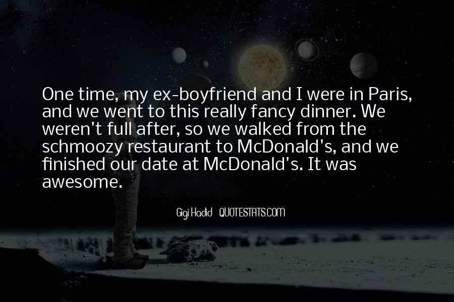 Dinner Date With Boyfriend Quotes #1222030