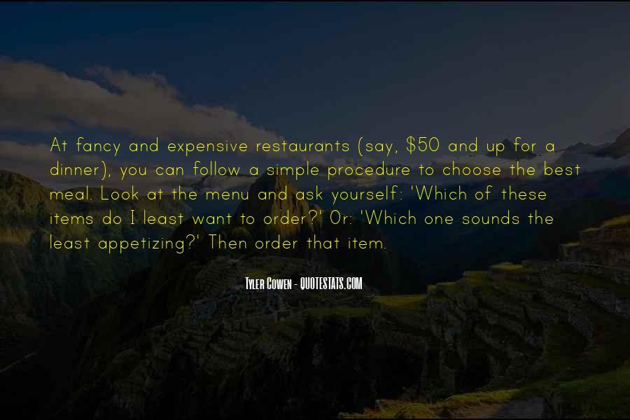Dinner Menu Quotes #1764260