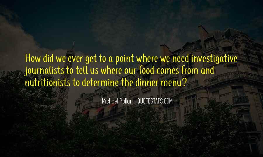 Dinner Menu Quotes #307188