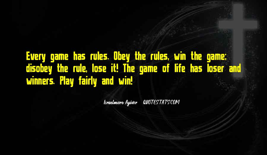 Disobey Rules Quotes #1765872