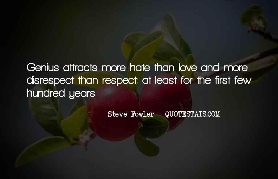 Disrespect Love Quotes #1058000