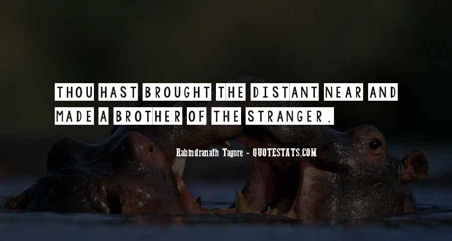 Distant Brother Quotes #1319501